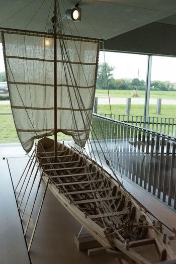 Replica of a roman sailing ship Day Empty Excavation Geometric Shape No People Replica  Roman Sailing Boat Ship