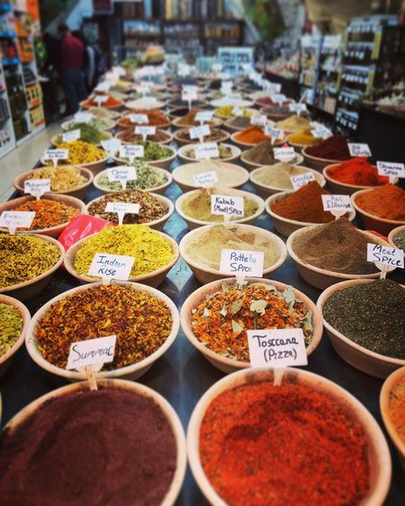 Spice Variation For Sale Food And Drink Market Stall Market Food Retail Display Retail  Jerusalem Oldcity Spices Colorful Israel Travel Orient Oriental