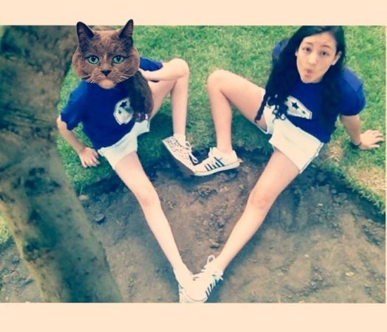 Hanging Out Catface Heart My Bestfriend