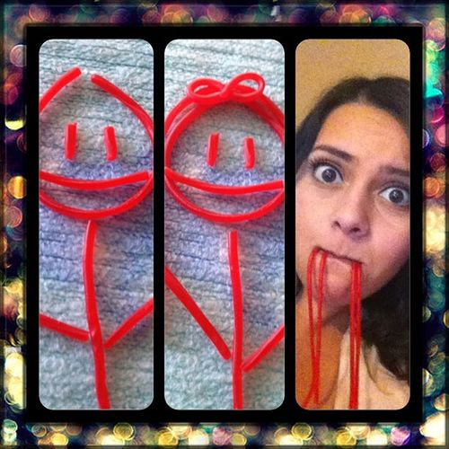 There go the twizzlers couple muah ha ha 😈 Twizzlers Candy Candyfun Couple color yummy imafatty imbored @hidalgo_marcel