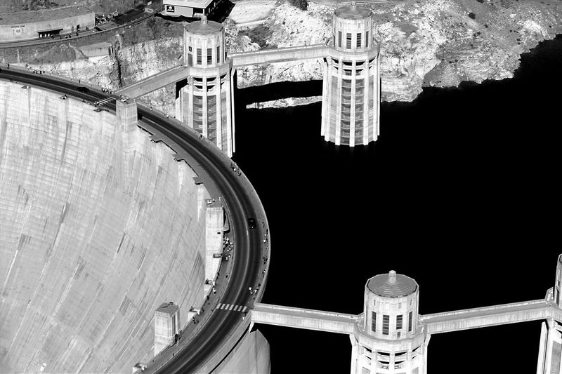 Black And White Hoover Dam
