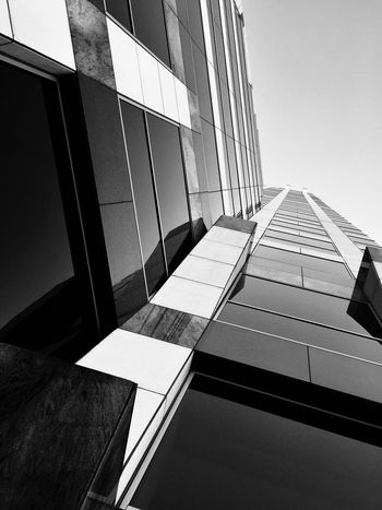 Architecture Blackandwhite Minimalism Built Structure Building Exterior Modern Skyscraper Day Low Angle View Window No People City Clear Sky Corporate Business Outdoors Sky Rethink Things Rethink Things Black And White Friday EyeEm Ready   The Graphic City Visual Creativity The Architect - 2018 EyeEm Awards The Traveler - 2018 EyeEm Awards The Creative - 2018 EyeEm Awards
