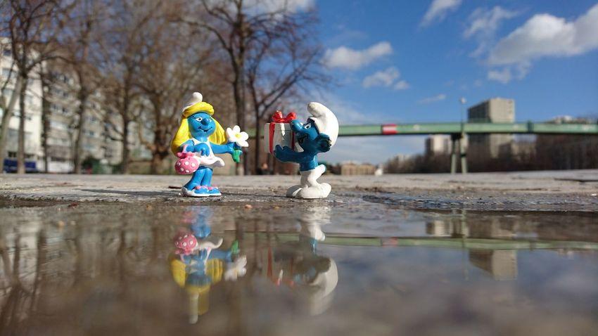 Foryou Smurfette  Smurf Valentine Valentine's Day  St Valentine's Day St Valentin Amour Gift