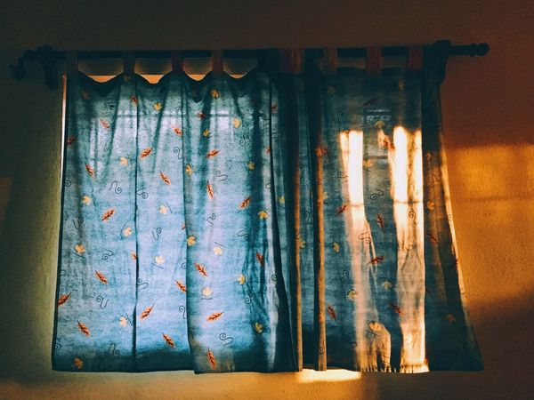 Indoors  No People Close-up Day Morning Light Window Curtains Colorful The City Light