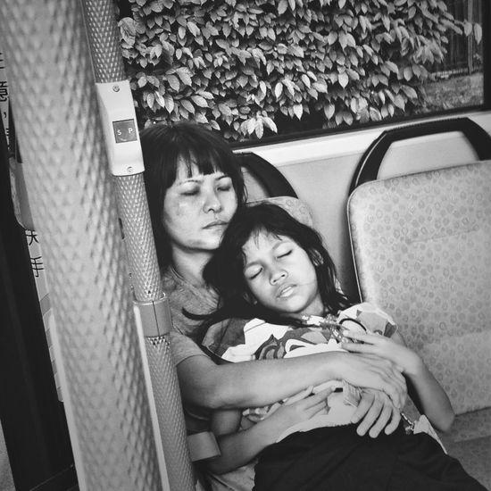 Falling Asleep Black & White