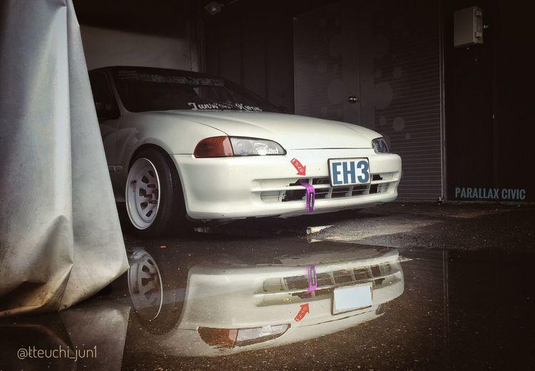 My prarllax civic :) Parallax Daily Vintage Illest Peaches Civic Honda Eh3 Eg6 Hellaflush Stance Car
