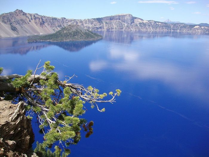 Crater Lake No Filter Blue Meets Green