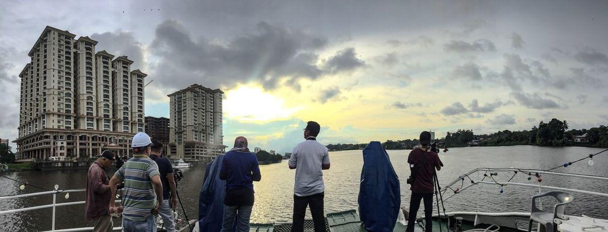 Sunset at Kuching Waterfront Sarawak