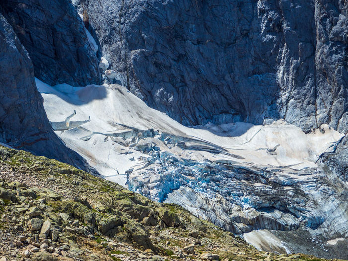 High angle view of glacier des oulettes