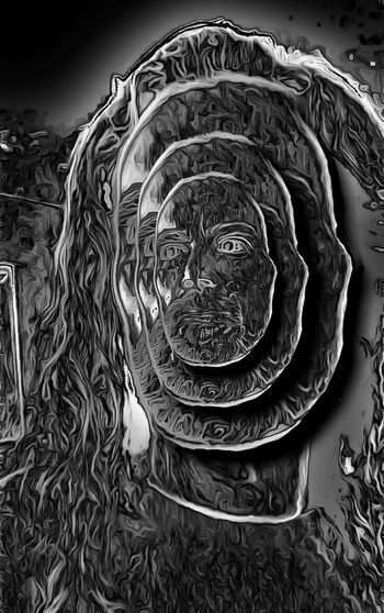 Face value. Creative Power Dark Fairytale Twisted Dream Painted Pictures Light And Shadow Twisted Portrait Digital Art Black & White Darkness And Light