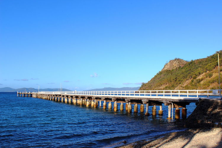 Architecture Australia Beauty In Nature Blue Clear Sky Connection Day Island Landing Stage Nature No People Ocean Outdoors Sea Sky Travel Destinations Water Whitesunday Whitesundays