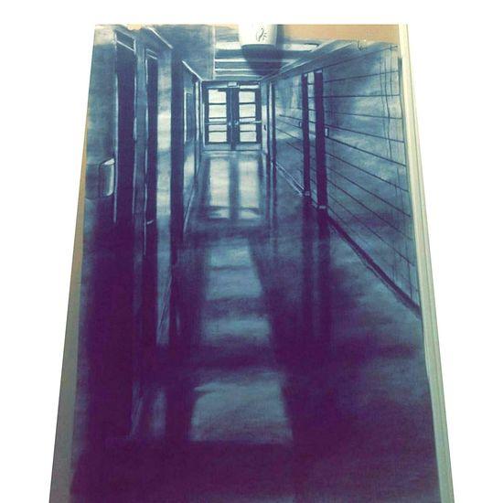Hallway Black And White Shading  .doG Designs