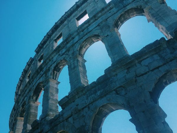 Coliseum Historical Monuments Blue Sky Sun Light From Vienna To Milan Seeing The Sights The Tourist