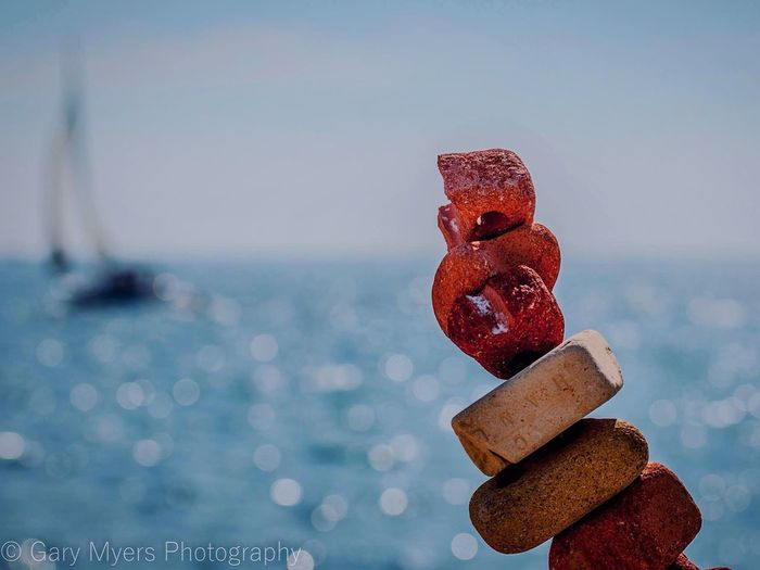 Focus On Foreground Close-up Red Travel Destinations Day Outdoors Sea Man Made Object Tranquil Scene No People Sail Sailing Tommy Thompson Park Eye Em Photo Leslie Street Spit Toronto Art Is Everywhere