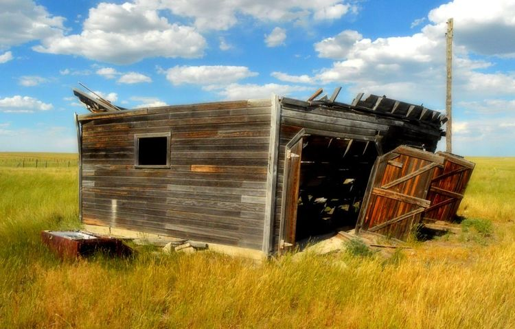 Architecture Landscape No People Old Old & Weathered Out In The Country Prairie Center Wyoming Rural Scene