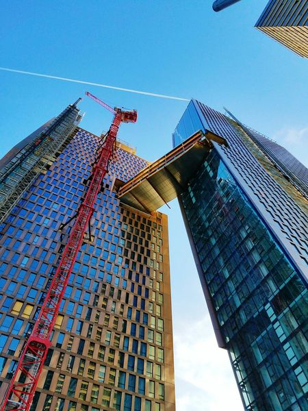 Freshy beautiful shot EyeEm Best Shots Architecture Construction New York City Towers Copper  Blue Sky Sky FDR Drive Skycraper