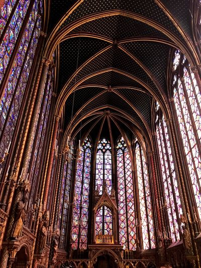 Religion Architecture Window History Place Of Worship Indoors  No People Day Saint Chapelle