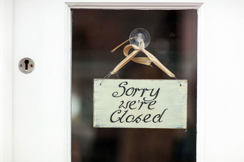 Sorry we're closed Alresford Alresford, UK Text Communication Western Script No People Door Sign Handwriting  Message Sorry We're Closed Closed Door Closed Travel No Entry Closed Shop Hanging Closed Sign