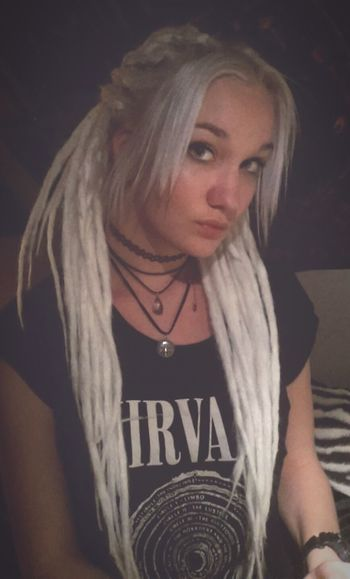 My Dreads Dreads <3 White Hair That's Me Bad Girl  Czech Girl Moonchild Blond Girl Hell Yeah Darkness And Light Czech