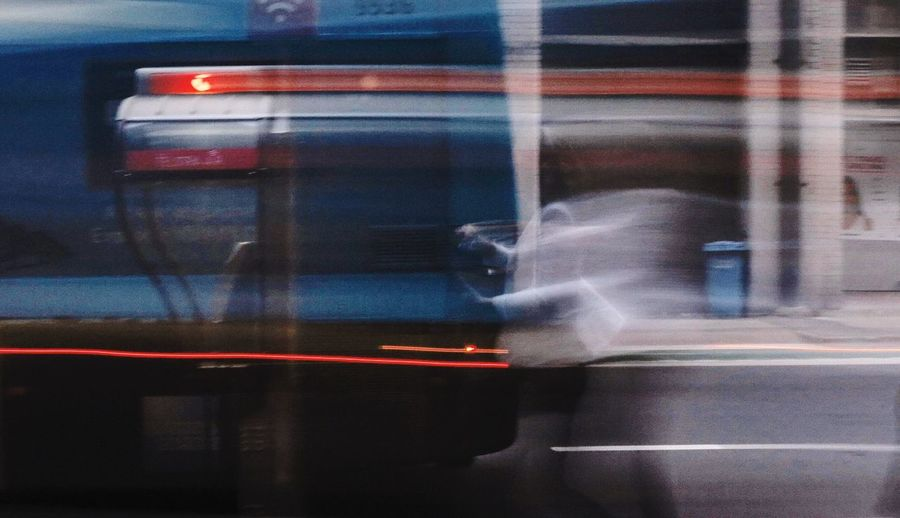 Blurred Motion Transportation Canong1x One Person