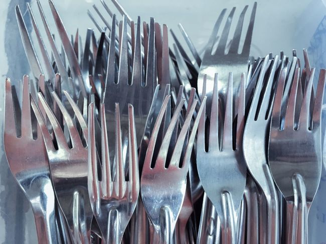 Abstract fork Fork Spoon Cutlery Kitchen Utensil Silverware  Eating Utensil Large Group Of Objects Still Life Cooking Utensil