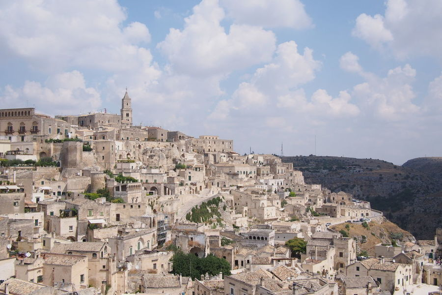 I Sassi di Matera Aerial View Ancient Civilization Architecture Building Exterior Built Structure Capital Cities  Church Cloud Cloud - Sky Cloudy Community Composition Culture Famous Place History Human Settlement International Landmark Italy Matera Matera2019 Outdoors Perspective Residential District Sky Top Perspective Tourism Travel Destinations