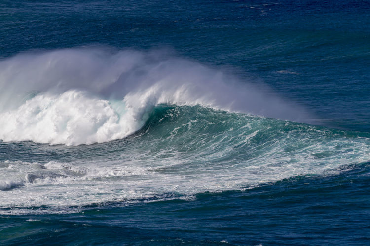 Giant Ocean wave in Hawaii Extreme Giant Oahu Hawaii Surf Beach Beauty In Nature Blue Day Force Motion Nature No People North Shore Ocean Outdoors Power In Nature Scenics Sea Seascape Splashing Spray Surfing Waves Waimea Bay Water Wave