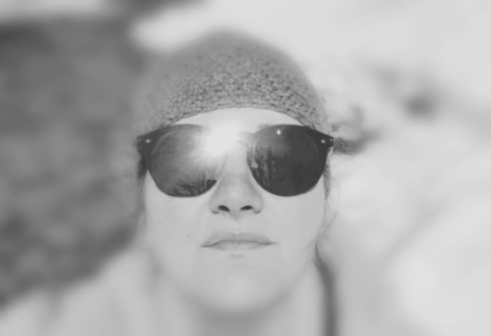 Cold sun tan day. Hanging In The Woods Crochet Hat Cold And Sunny  Portrait Headshot Human Face Looking At Camera Front View Protection Sunglasses Reflection Human Lips