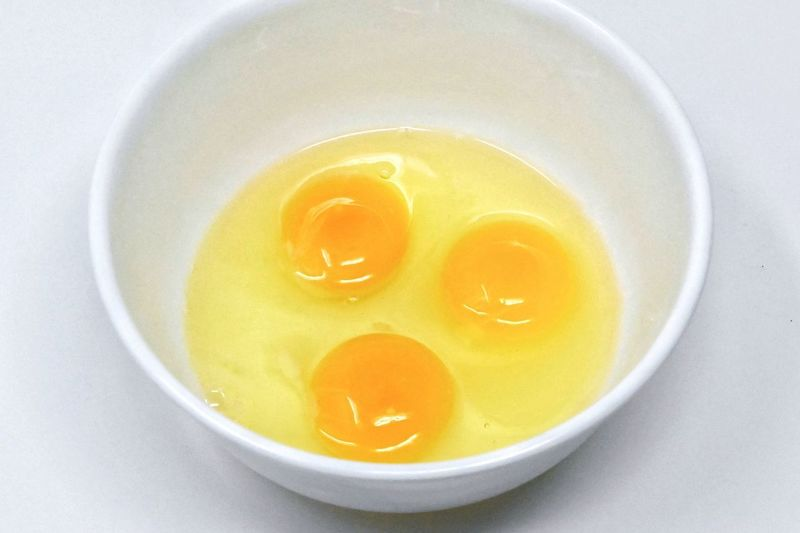 Three egg yolks