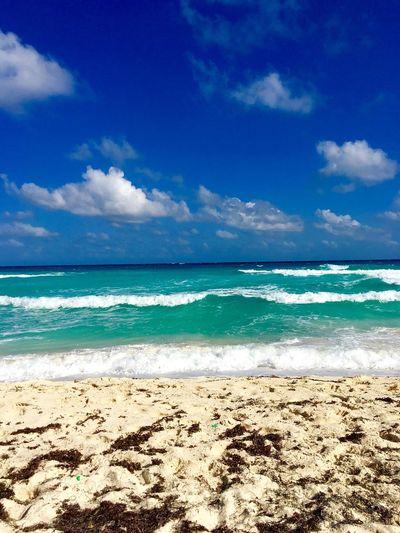 Ocean Beach Sand Cancun Mexico Travel First Eyeem Photo