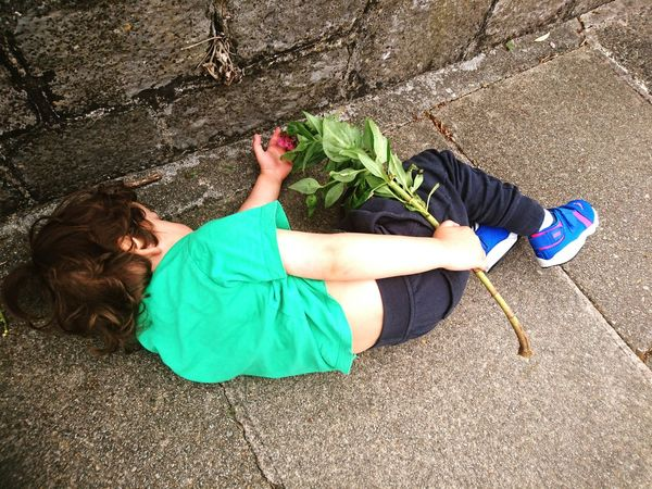Fine Art Photography Mobile Photography Human Emotion Flower Boy Tantrum Hanging Out Boy Growing Up