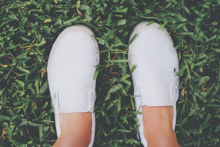 Grass Is Always Greener On The Otherside! Vansshoes ALL WHITE EVERYTHING NOLA New Orleans EyeEm Best Shots From My Point Of View Grass Travel Photography EyeEm Nature Lover