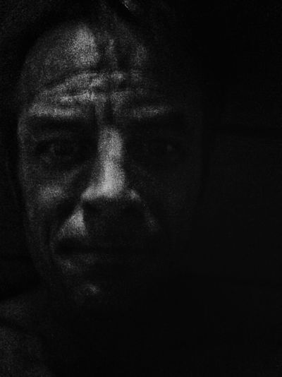 Self Portrait. Darkness Dark Tired Obscured Face Self Portrait Mobilephotography Blackandwhite Black EyeEmNewHere Be. Ready. Night Close-up Indoors  Black Background Looking At Camera Men Young Adult Real People Portrait Headshot Human Face Dark Front View One Person Choatephotos Choatgrapy IPhoneography Shades Of Winter Business Stories An Eye For Travel