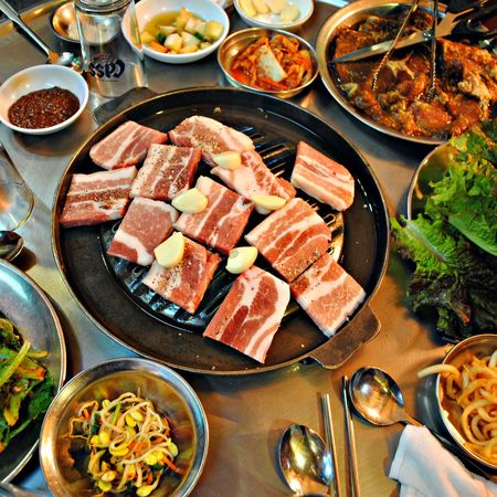 Food Food And Drink Ready-to-eat Plate Serving Size Table Freshness Variation Meat Healthy Eating Bowl High Angle View No People Meal Indoors  Temptation Indulgence Chopsticks Chinese Food Seafood