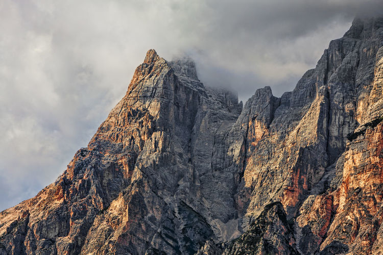 Peaks and clouds in Dolomites mountains. Dolomites, Italy Weather Adventure Background Beauty In Nature Cloud - Sky Clouds Clouds And Sky Dolomites Italy Forecast Landscape Meteorology Mountain Nature Outdoors Peak Physical Geography Rock - Object Scenics Sky