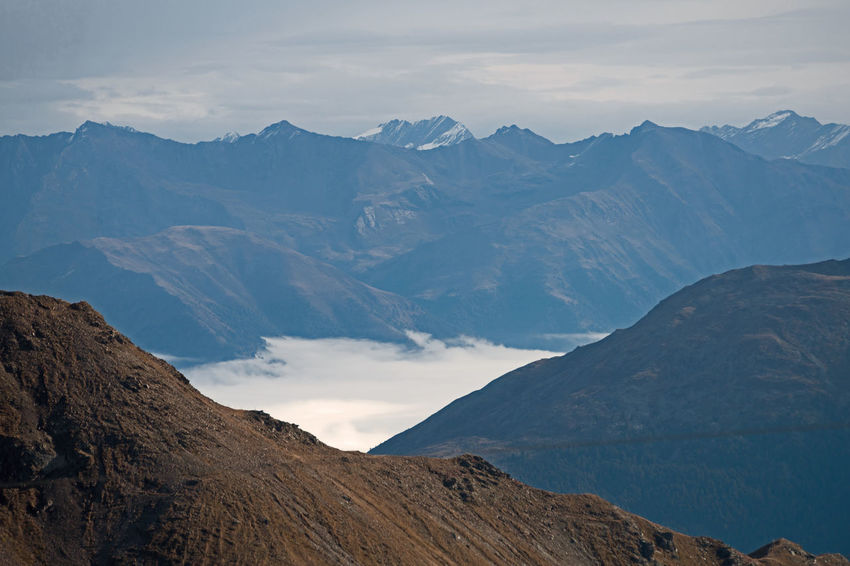 Alps Fog Foggy Morning Mountains Stelvio Valley Tranquil Scene Beauty In Nature Landscape Mountain Mountain Range Scenics Nature Physical Geography No People Sky Tranquility Outdoors Day