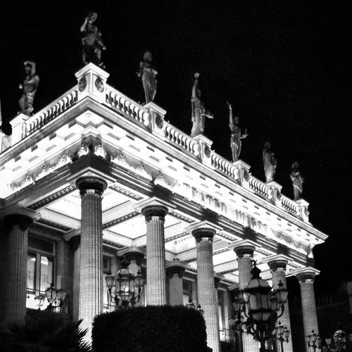 Cities At Night EyeEm Black And White Guanajuato Light And Shadow Cultural Heritage Cities Architecture Callejones Teatro Coonial City The Architect - 2017 EyeEm Awards