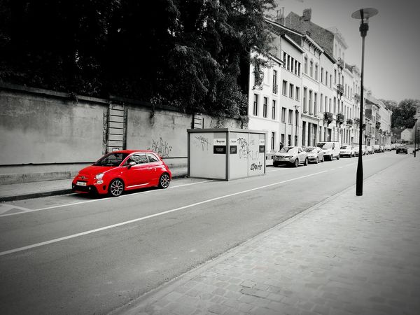 Fiat500 Fiat 500 Abarth Red Red Color Rouge Car Abarth 500 Abarth AbarthOnly Streetphotography Black And White