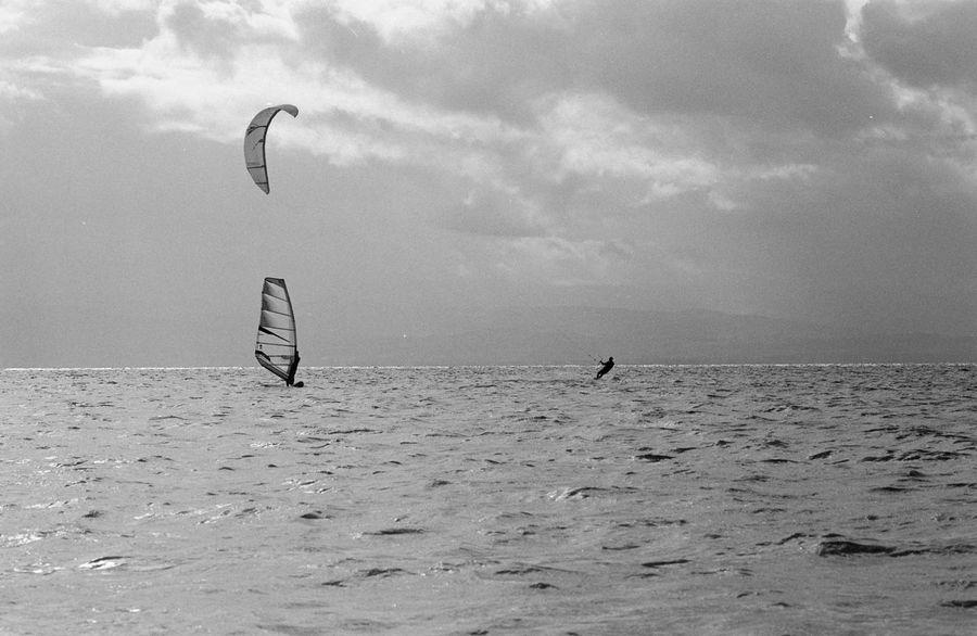 Wind Surfing Wind Surfer Kite Kitesurfing Kite Surfing Wind Outdoors Water Nature Flying Vacations Blackandwhite Analogue Photography Analog Photography Film Photography Lake Constance Bodenseeregion Friedrichshafen Am Bodensee Kleinbildfilm The Week On EyeEm