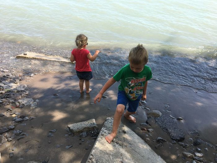 Lake Ontario Siblings Beach Beach Exploring Childhood Family Lifestyles Outdoors Togetherness
