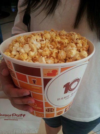 爆米花 Today's Hot Look Yummy Tasty Sweet Popcorn Popcorns Eating Popcorn Delicious Sweet♡