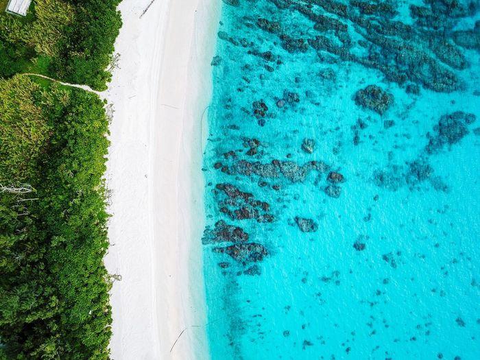 Drone picture in zamami-jima, okinawa, japan