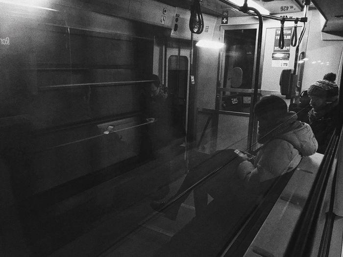 Conversation City Life Sad Phone Conversation Train - Vehicle Public Transportation Transportation Real People Passenger Train Passenger Subway Train Rail Transportation Journey Travel Lifestyles Women Men