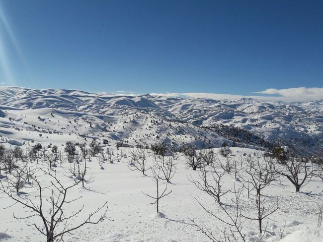 Snow Winter Cold Temperature Nature Scenics Weather Clear Sky Blue Outdoors Day Landscape Mountain Ski Track Tranquility No People Tranquil Scene Beauty In Nature Sky Neige Neige❄ Neige👌👊❄️⛄️ Blanc Montagne Mountains Turquie