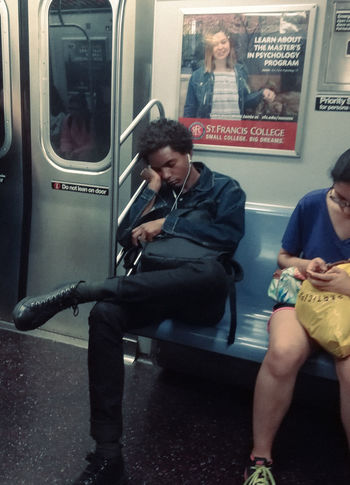 Usa Trip 2017 Last Summer Let's Go Explore USA New York City Manhatten Last Days Of Summer New York City Life Urbanphotography Real People Subway Train Subway Sleeping Peopel Photography Streetphotography Eyeem Streetphotography