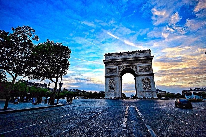 Bonjour Paris from the Arc de Triomphe de la place Charles de Gaulle