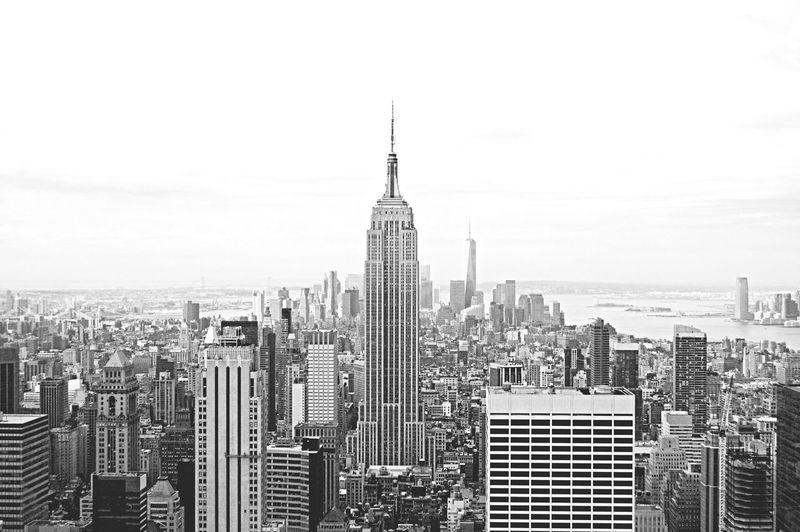 New York Newyork Skyscrapers Amazing View Sky