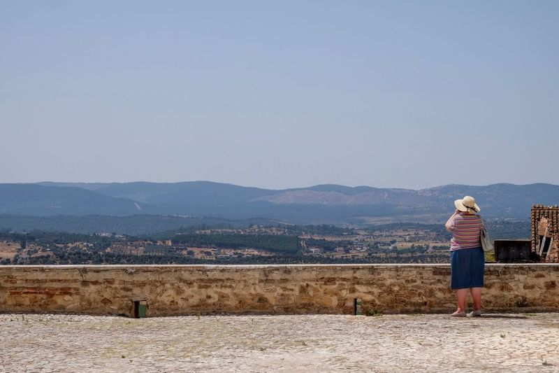Estremoz Castle View Estremoz Full Length Mountain Rear View Clear Sky Land Beauty In Nature Mountain Range Scenics - Nature