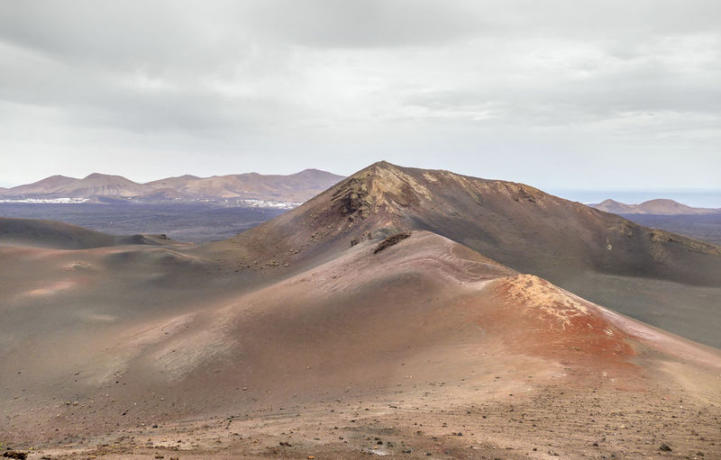 Impression at the timanfaya national park in lanzarote, part of the canary islands in spain