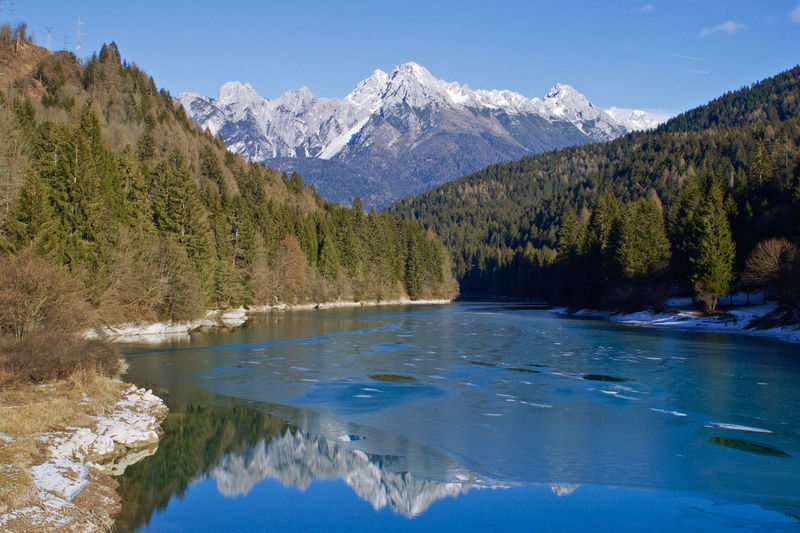 Lake reflections Beauty In Nature Italy Lake Lake View Landscape Mountain Mountains Reflection Trees Winter